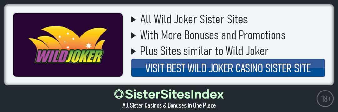 Wild Joker sister sites