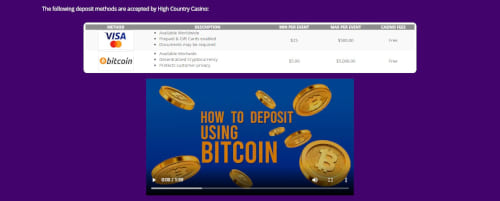 High Country Casino Banking