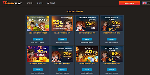 Webby Slot Bonuses