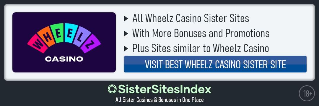 Wheelz Casino sister sites