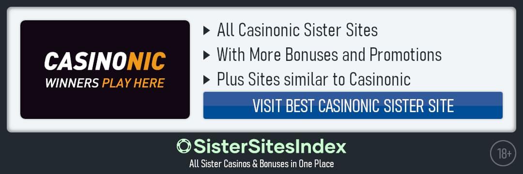 Casinonic sister sites