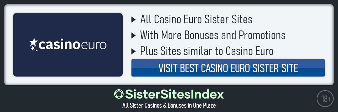 CasinoEuro sister sites