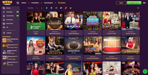 Bizzo Casino Live Dealer Games