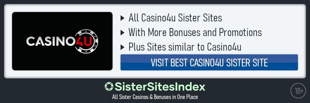 Casino4u sister sites